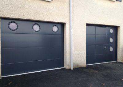 Portes de garage sectionnelles avec portillon intégré